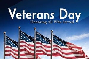 Veterans Day Celebration Program on 11/7/19